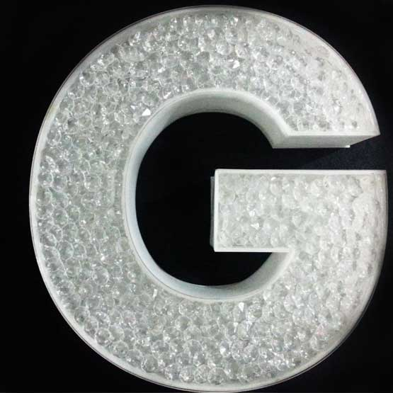 acrylic diamond led letter