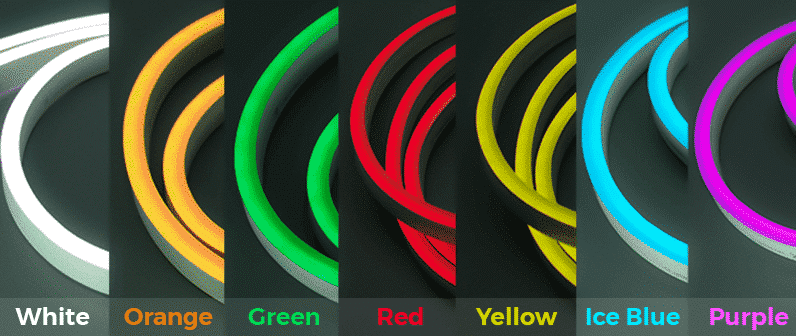Color Options - White, Orange, Green, Red, Yellow, Ice Blue, Purple